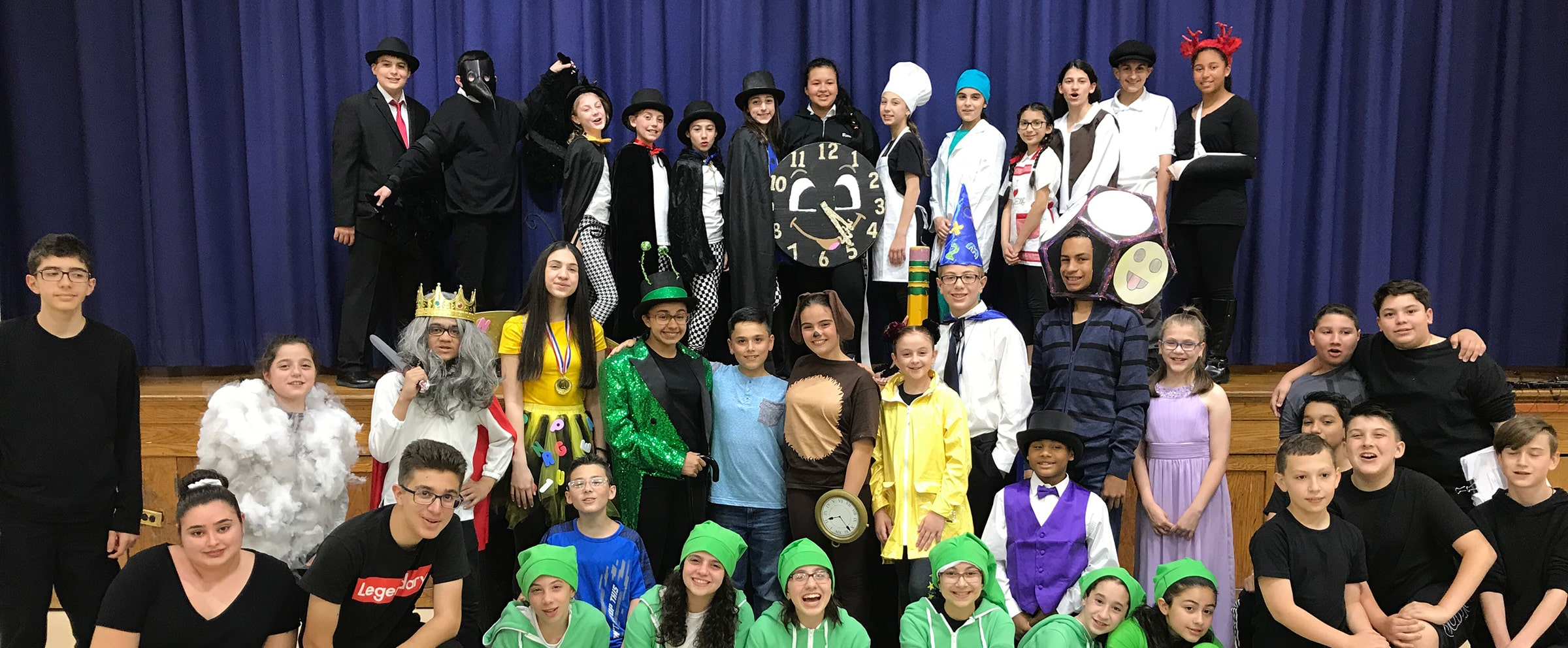 Our Lady of Grace Catholic Academy students in costume